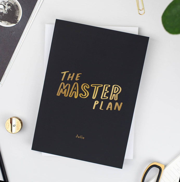 Master Plan Personalised Foil Notebook
