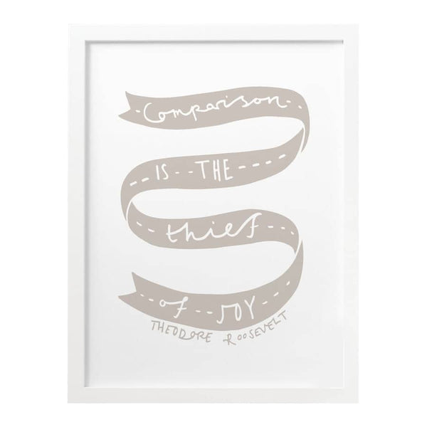 comparison if the thief of joy typography print