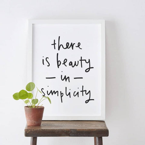 Beauty In Simplicity Print