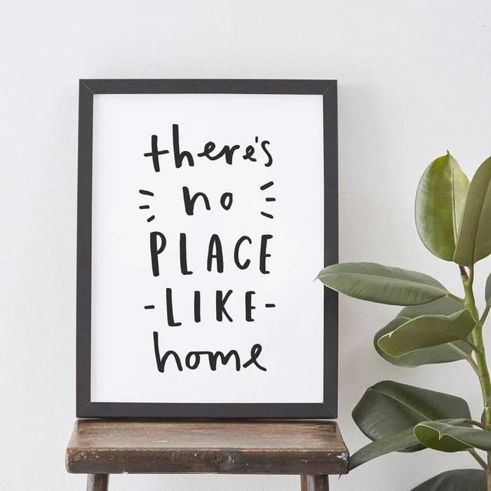 theres no place like home personalised gift print