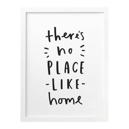 Theres no place like home personalised print