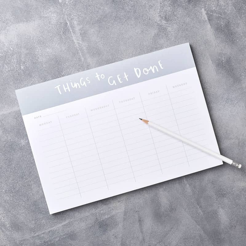 things to get done weekly planner desk pad