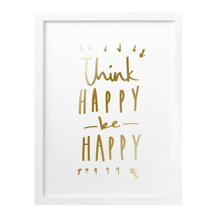 Happy Quote Foiled Print