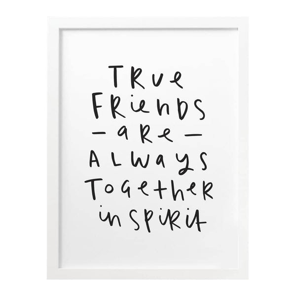 True friends personalised gift typography print
