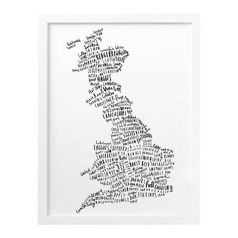 British Food Map Print