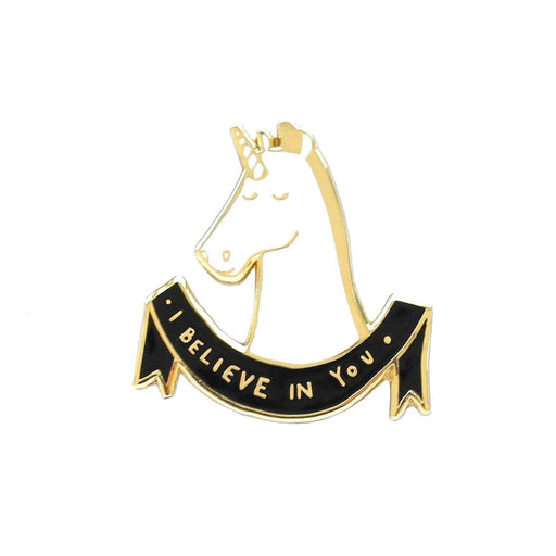 Unicorn Pin - Believe in yourself quote