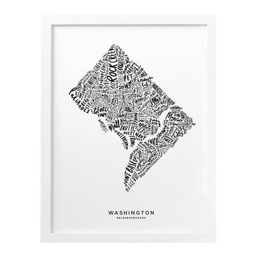 Washington Map Art Print