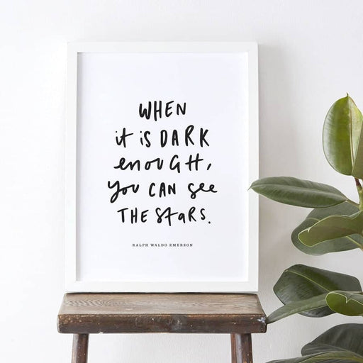 see the stars ralph waldo emerson quote print