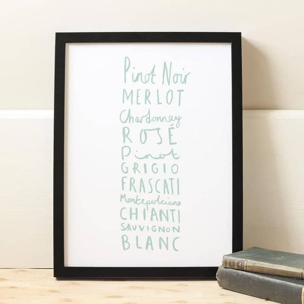Wine Kitchen Print