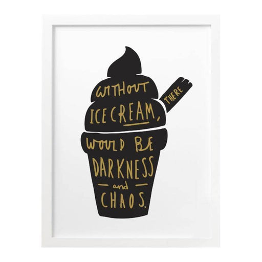 without ice cream art print