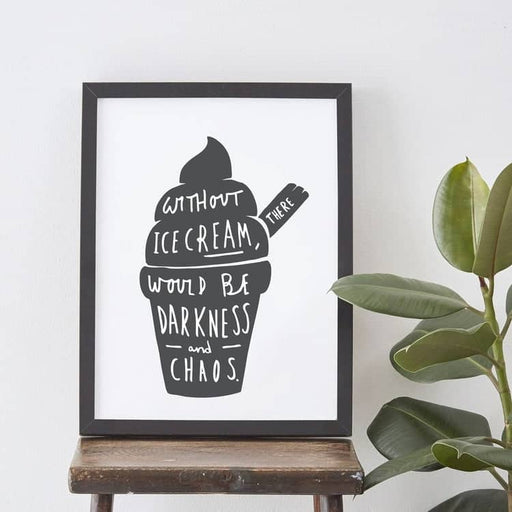 Ice Cream Quote Illustration
