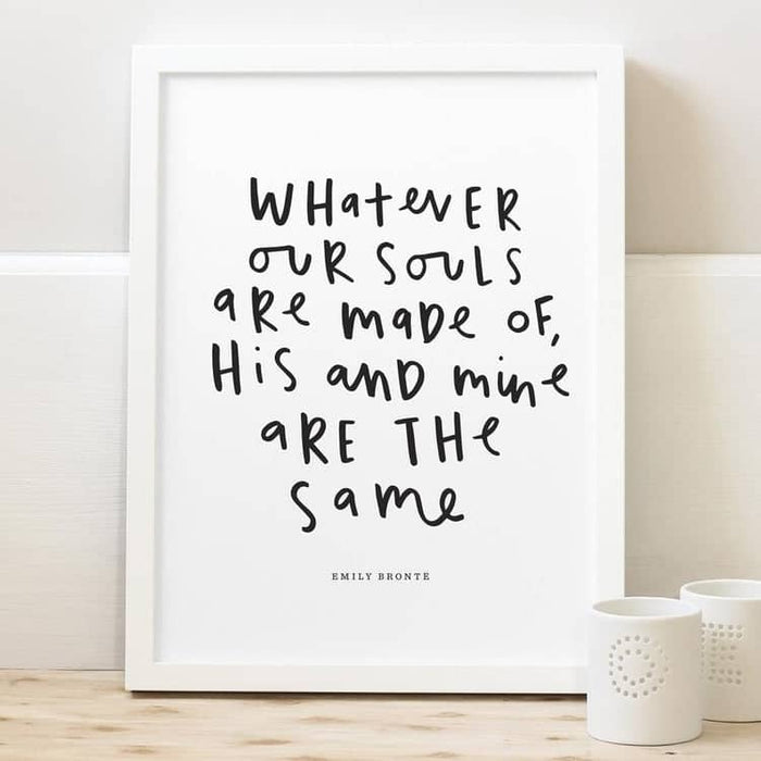 emily brontë wuthering heights quote print literary gift