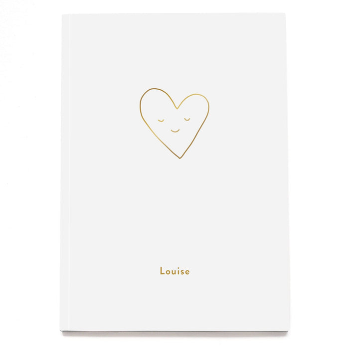 Smiling Heart Personalised Notebook