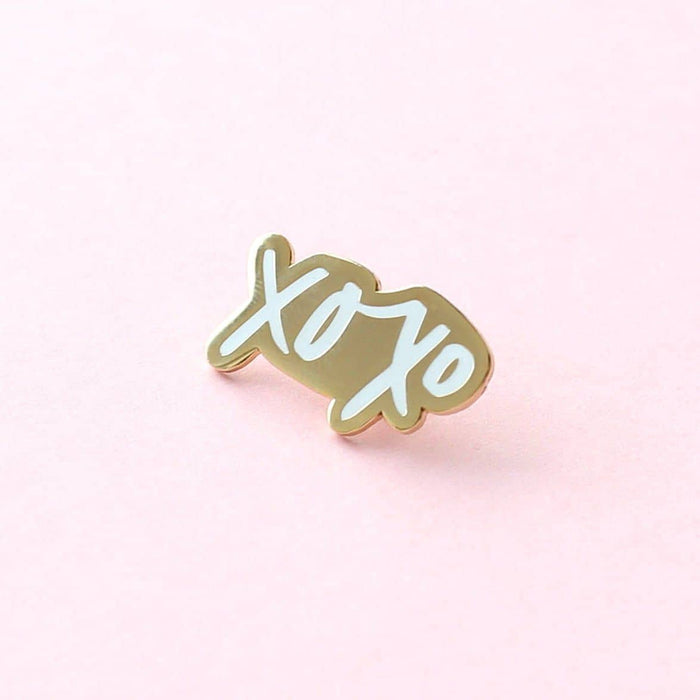 xoxo enamel pin