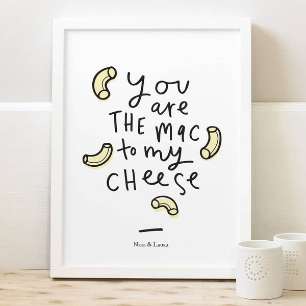 typography mac to my cheese print