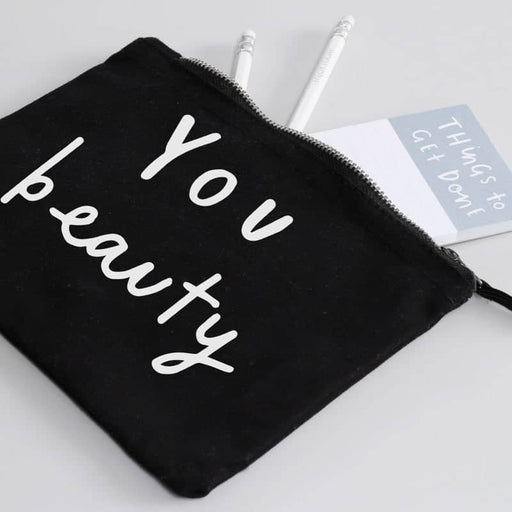you beauty black make up pouch