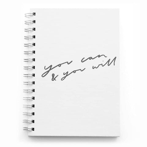 You Can and You Will A5 Wiro Notebook