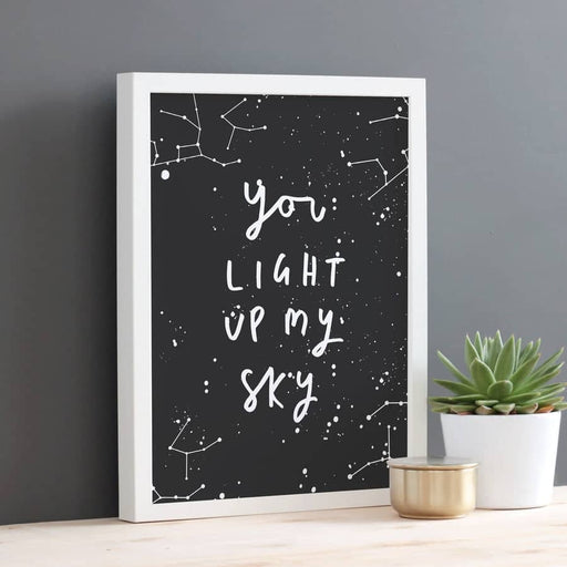 Light Up My Sky Constellation Print