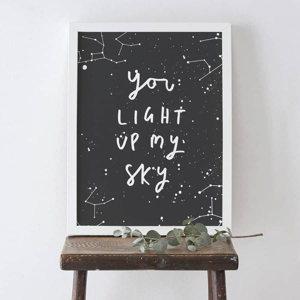 you are my star typography print