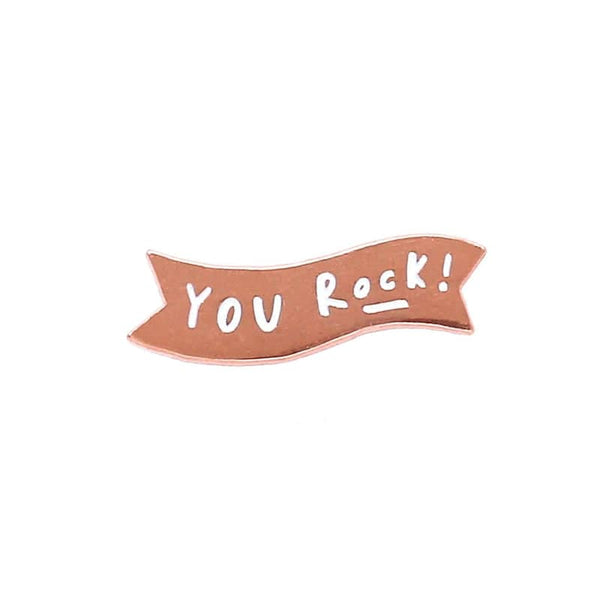 you rock enamel pin