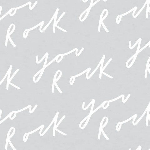 You Rock Typography Wrapping Paper