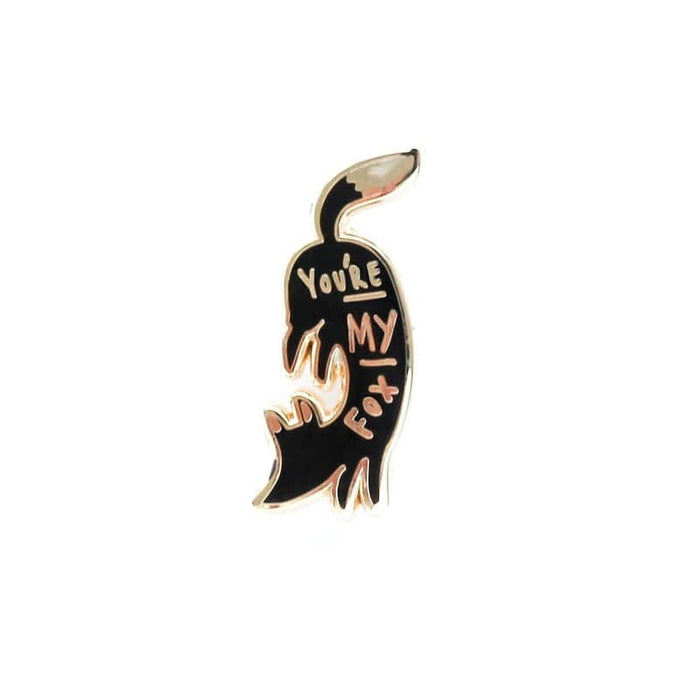 you're my fox enamel pin