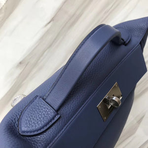 愛馬仕2018年新款 Hermès kelly2424 price 29cm 7E明藍色 Blue Brighton