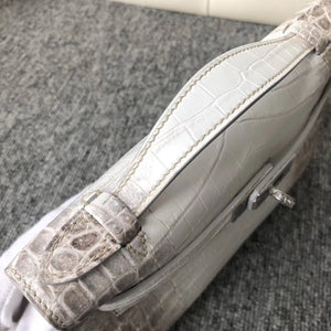 Customized Hermes MiniKelly Pochette 22cm Himalaya Matte Crocodile 喜馬拉雅