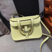 將圖片載入圖庫檢視器 Hermes Halzan mini bag Swift calfskin 1Z Jaune poussin 小雞黃
