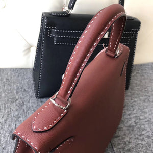 臺北市 Taiwan Hermes Kelly 28cm Graine Monsieur Ck55 Rouge H 愛馬仕紅