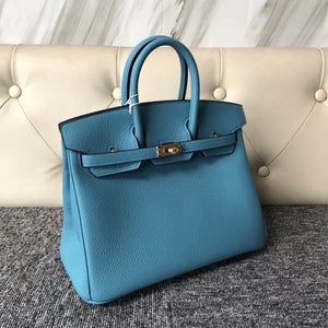 The Republic of Korea Hermes Birkin 25cm P3 Blue de nord 北方藍