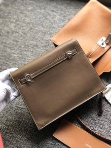 Hong Kong Hermes Kelly Danse Evercolor CK18大象灰/CK37金棕色 Gold