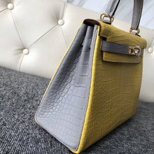 將圖片載入圖庫檢視器 Taiwan Hermes Kelly 25cm Hss So 9R檸檬黃 lemon CK80 Pearl Grey 珍珠灰