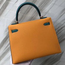 將圖片載入圖庫檢視器 Wholesale Hermes 9V Jaune D'or/Blue Paon