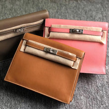 將圖片載入圖庫檢視器 Hong Kong Hermes Kelly Danse Evercolor CK18大象灰/CK37金棕色 Gold
