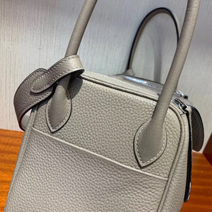 Hermes Lindy 26cm taurillon Clemence leather M8瀝青灰 Griss Asphalte