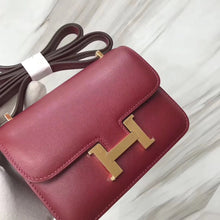 將圖片載入圖庫檢視器 Hermes Constance Mini 14cm Swift K1石榴紅 Rouge grenat