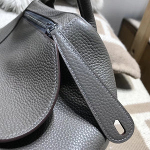 Hermes Lindy bag 30 togo小牛皮 8F Etain锡器灰银扣金屬
