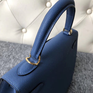 Singapore Hermes Kelly 25cm R2瑪瑙藍 Blue agate Epsom 御用手掌紋皮