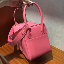 將圖片載入圖庫檢視器 Singapore Hermes lindy 26 bag 8W Rose Azalee Swift calfskin 皮