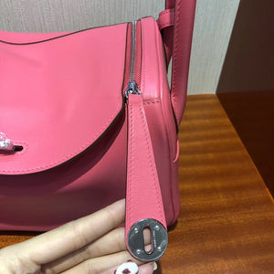 Singapore Hermes lindy 26 bag 8W Rose Azalee Swift calfskin 皮