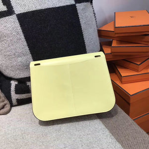 Hermes Halzan mini bag Swift calfskin 1Z Jaune poussin 小雞黃