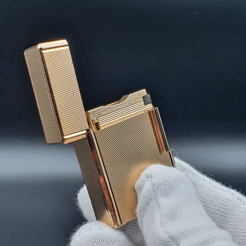 Rare Small Gold S . T. Dupont Ligne 1 Type BR Lighter 70's
