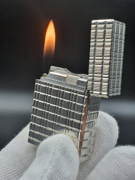 Rare Small Silver S . T. Dupont Ligne 1 Type BR Lighter 80's