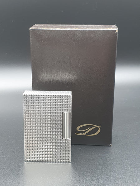 Rare Diamond Head Silver and Gold S. T. Dupont Ligne Gatsby Lighter