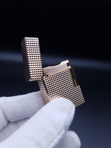 Rare Small Diamond Heat Gold S . T. Dupont Ligne 1 Type BS Lighter 60's