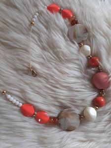 "Collier fantaisie ""Corail"""