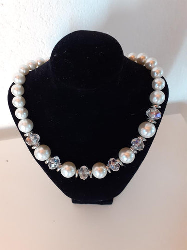 Collier Femme perles blanches