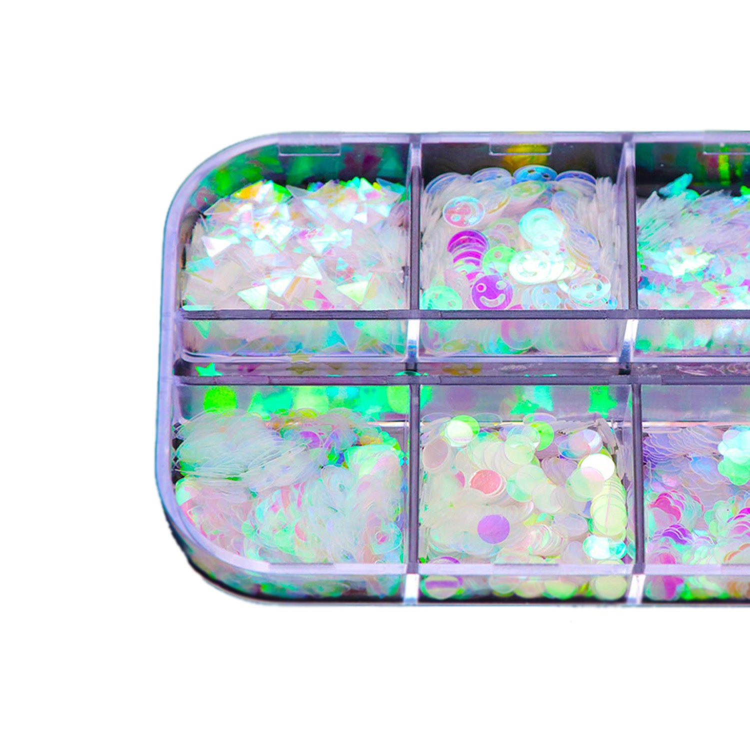 1 Box Holographic Glitter Nail Art Sequins