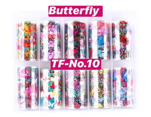 Design Multi Patterns Fashion Nail Decoration Foil Nails Wraps Transfer Sticker Nail Box